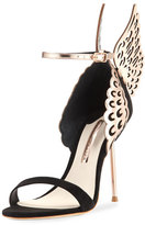Sophia Webster Evangeline Angel Wing Sandal, Black/Rose Gold