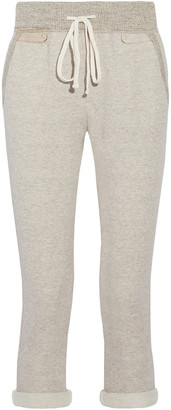 James Perse Cotton-blend Terry Track Pants