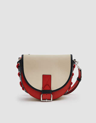 J.W.Anderson Small Bike Lacing Leather Crossbody Bag in Parchment Multi