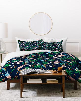 Deny Designs Holli Zollinger Tropical Jungle Floral Duvet Cover