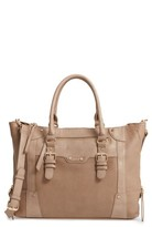 Sole Society 'Susan' Winged Faux Leather Tote - Brown