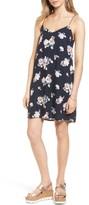 Lush Women's Floral Print Cross Back Slipdress