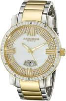 Akribos XXIV Men's AK506TT Diamond Swiss Quartz Bracelet Watch