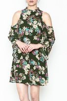 Everly Hunter Green Floral Dress