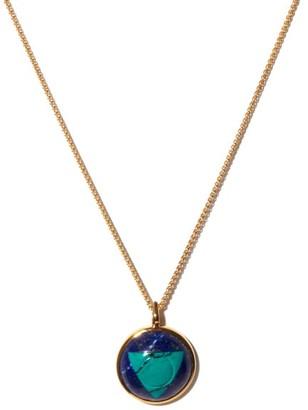 Noor Fares Vishuddha Lapis, Turquoise & Gold Necklace - Blue