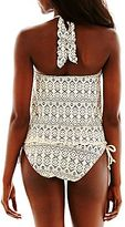 JCPenney Bisou Bisou® Crochet Halterkini Swim Top or Hipster Bottoms