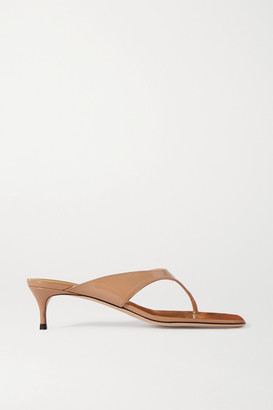 BY FAR Jackie Patent-leather Sandals - IT35