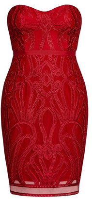City Chic Antonia Dress - red