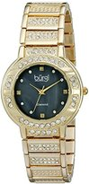 Burgi Women's BUR067YG Stainless Steel Diamond Bracelet Watch