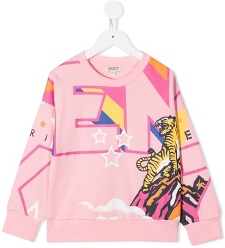 Kenzo Kids All-Over Logo Print Sweater