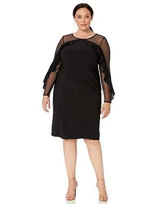 R & M Richards R&M Richards Women's 1 PCE Plus Size Sheer Sleeve Dress
