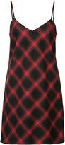 Adaptation - bias plaid slip dress - women - Cotton/Tencel - M