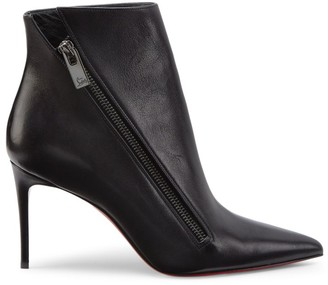 Christian Louboutin Birgikate Leather Point-Toe Booties