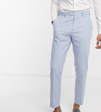 Gianni Feraud Wedding Tall linen slim fit suit pants