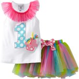 Mud Pie Baby Girl's Birthday Tutu, Multi