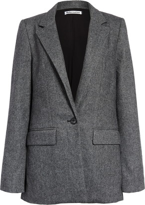 Reformation Camley Herringbone Wool Blend Blazer
