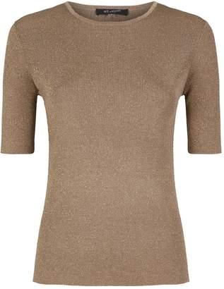 St. John Sparkle Rib-Knit Sweater