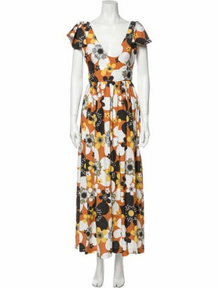 Dodo Bar Or Floral Print Long Dress Brown