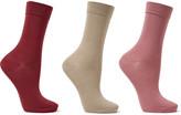Falke Set Of Three Stretch Cotton-blend Socks - Beige