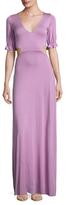 Rachel Pally Finnie Flounce Sleeve Maxi Dress