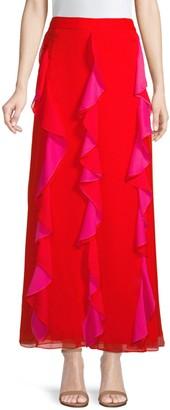 Diane von Furstenberg Salona Ruffle Maxi Skirt