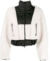 3.1 Phillip Lim Cropped Faux Shearling Bomber Jacket