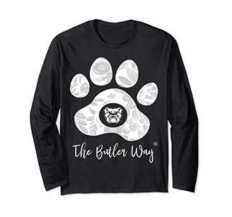 Butler Bulldogs Beautiful Floral Paw - Team Long Sleeve T-Shirt