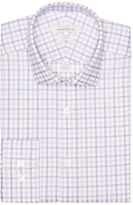 Perry Ellis Slim Fit Lilac Check Dress Shirt