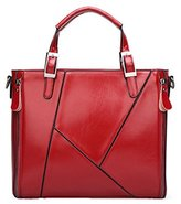 Santwo Double Use Leather Top-Handle Handbag or Coss-body Bag for Women/Lady/Girls