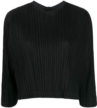 Pleats Please Issey Miyake high-neck draped top