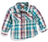 Tea Collection Infant Boy's Beaufort Plaid Flannel Shirt