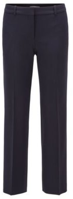 HUGO BOSS Relaxed Fit Cropped Pants In Portuguese Stretch Twill - Light Blue