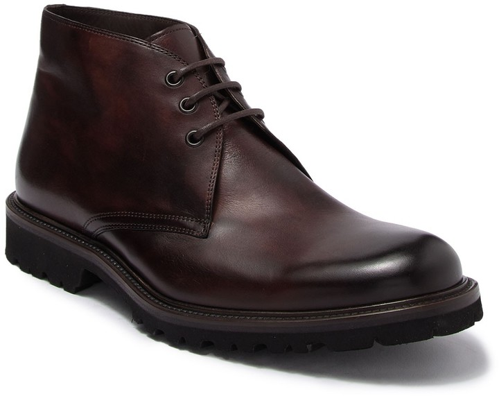 best price great prices official store Magnanni Chuks Leather Chukka Boot - ShopStyle