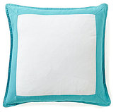 Southern Tide Skipjack Chino Framed Monogram Cotton Square Feather Pillow