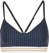 The Upside Zoe Polka-dot Bikini Top - Navy