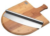 Kitchen Craft World Of Flavours Italian Pizza Board And Knife Set