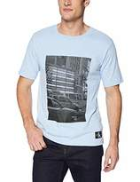 Calvin Klein Jeans Men's Short Sleeve Hd Squared Logo Crew T-Shirt
