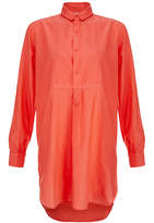 Orlebar Brown Sorrento Hot Coral Silk Cover Up