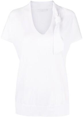 Fabiana Filippi knot-detail cotton T-shirt