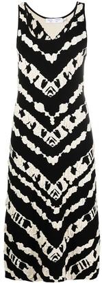 Proenza Schouler White Label Tie-Dye Sleeveless Dress