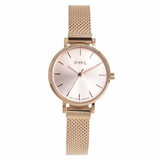 OWL Women's Analogue Japanese Quartz Watch with Stainless Steel Strap A610MR