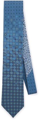 Prada Diamond-Print Silk Tie