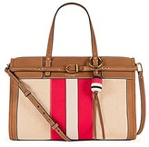 Tory Burch Canvas & Suede Satchel