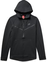 Nike Sportswear Windrunner Cotton-blend Tech Fleece Zip-up Hoodie - Black
