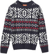 Joe Fresh Kid Boys' Fair Isle Sweater, JF Midnight Blue (Size S)