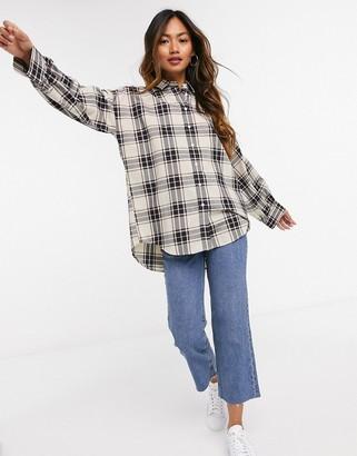 Gant oversized oxford shirt in check