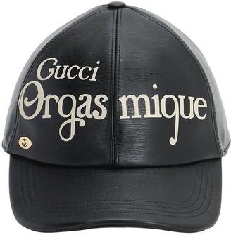 Gucci Orgasmique Printed Leather Cap