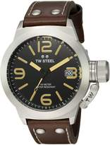 TW Steel Men's CS31 Analog Display Quartz Brown Watch
