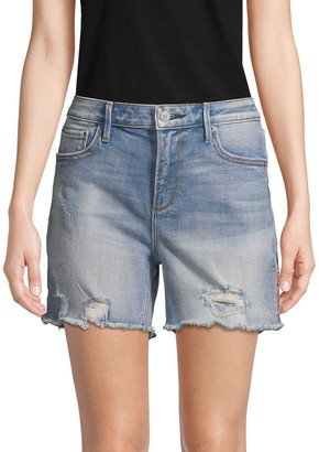 Driftwood Distressed Denim Shorts