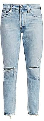A Gold E AGOLDE Women's Jamie High-Rise Distressed Ankle Classic Jeans